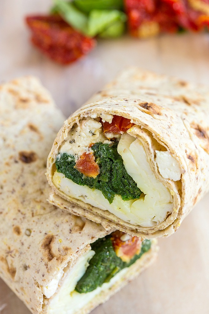 Copycat Starbucks Spinach and Feta Breakfast Wrap