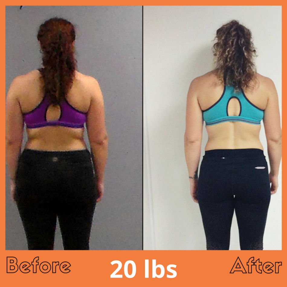 Heather Weight loss Before After Back