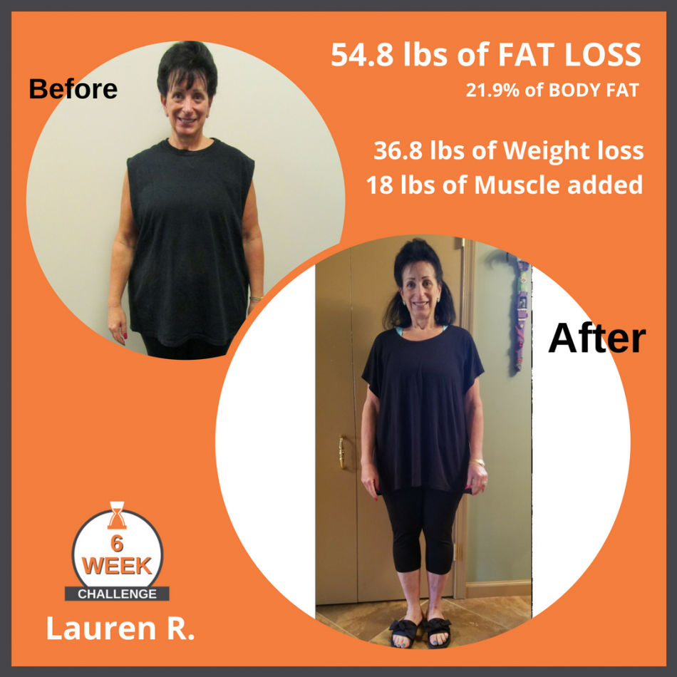 6 Week Challenge _ Lauren R Fat loss-Weight loss Before After (1)